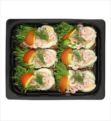 Smörrebröd räkor & ägg 6p